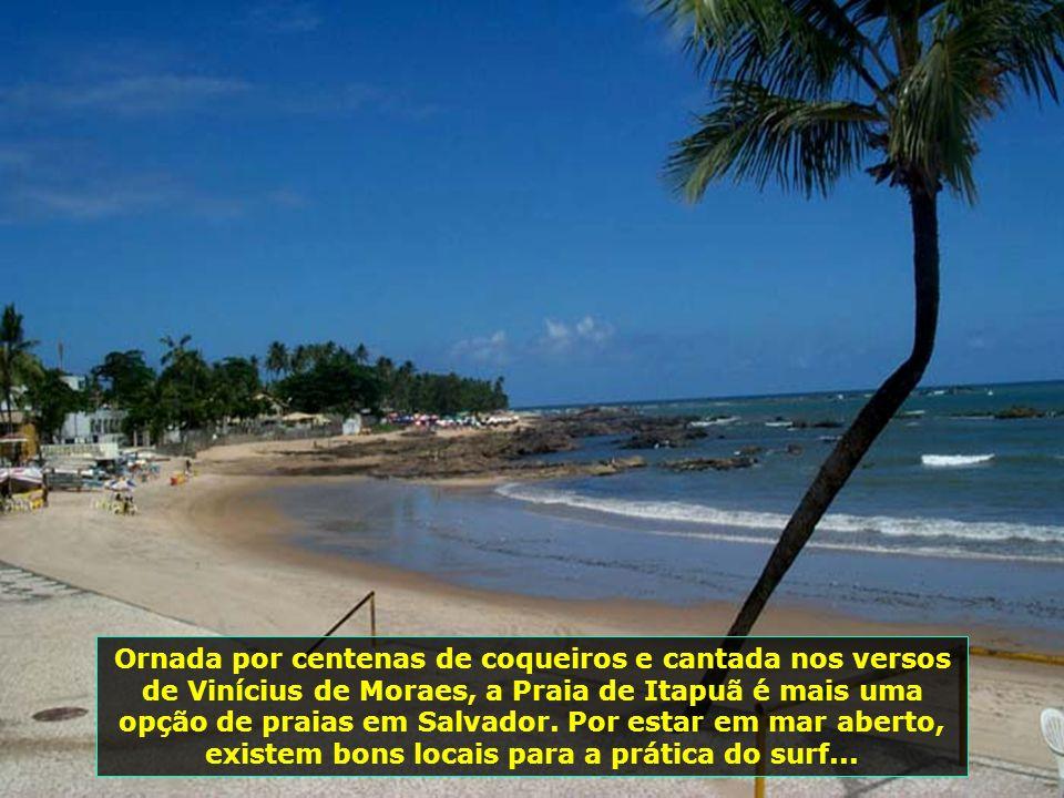 Praia do Flamengo, de águas mornas e areias amareladas, localiza-se ao norte de Salvador e é uma das praias mais procuradas pelos banhistas...