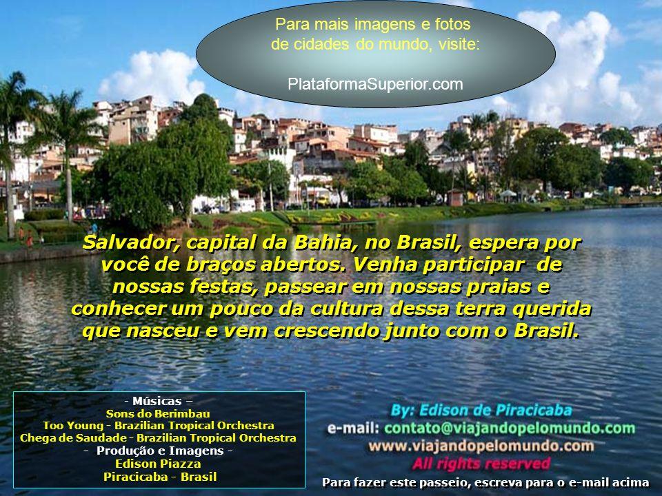 Fotos em slide de cidades do Brasil www.PlataformaSuperior.com Localizado entre os bairros de Ondina e Barra, e com uma fantástica vista para o mar, o