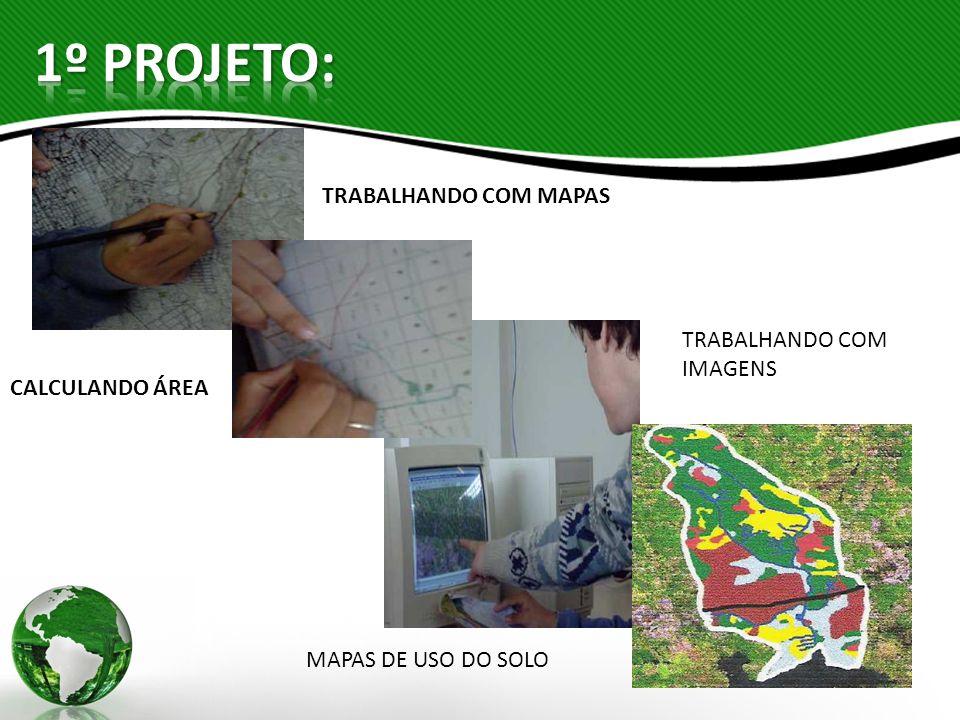 TRABALHANDO COM MAPAS CALCULANDO ÁREA TRABALHANDO COM IMAGENS MAPAS DE USO DO SOLO
