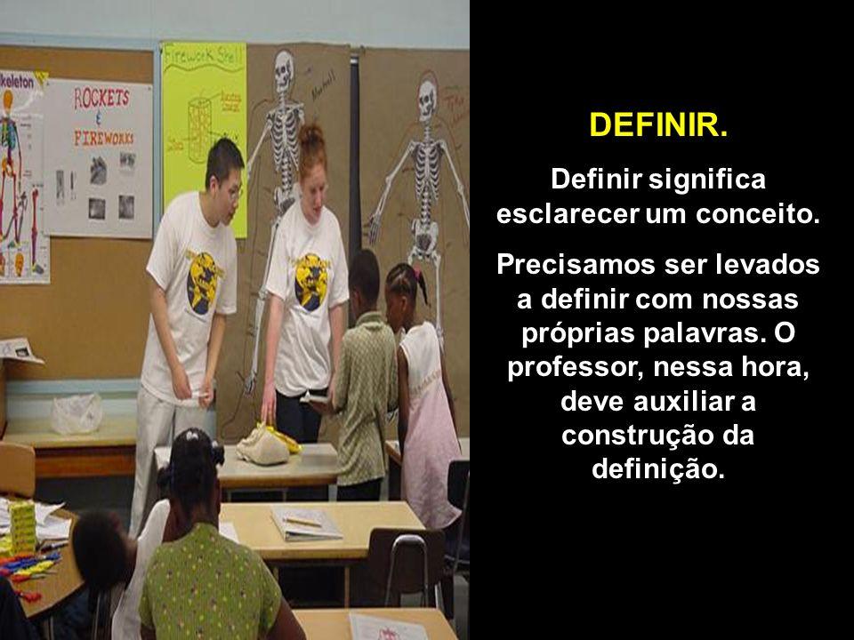 DEFINIR.Definir significa esclarecer um conceito.