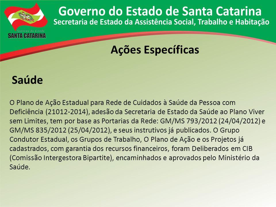 O Plano de Ação Estadual para Rede de Cuidados à Saúde da Pessoa com Deficiência (21012-2014), adesão da Secretaria de Estado da Saúde ao Plano Viver