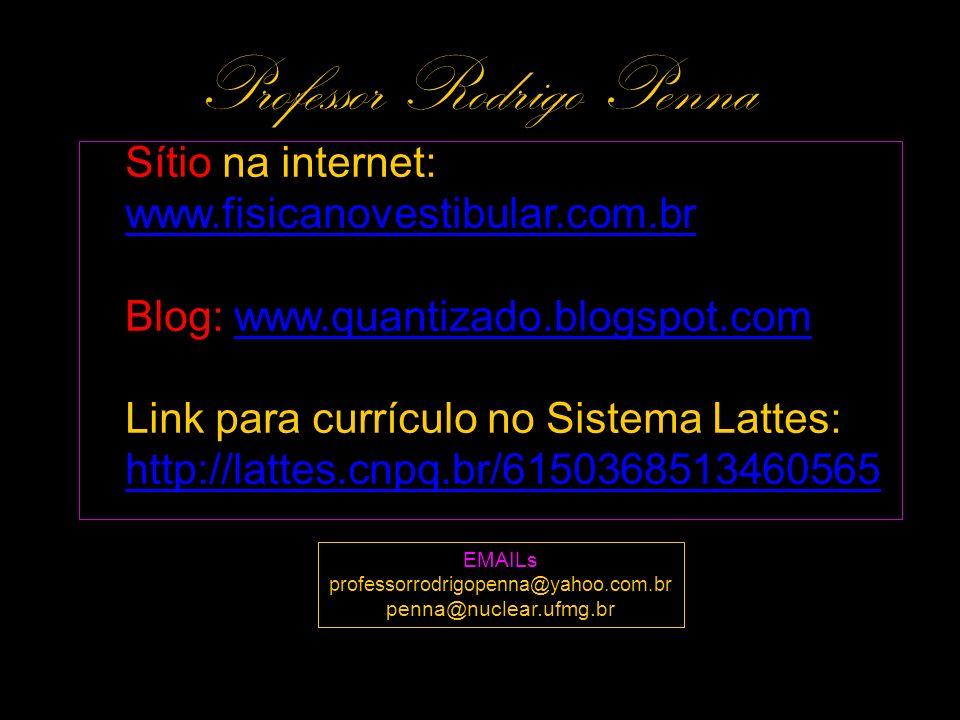 Sítio na internet: www.fisicanovestibular.com.brwww.fisicanovestibular.com.br Blog: www.quantizado.blogspot.comwww.quantizado.blogspot.com Link para c