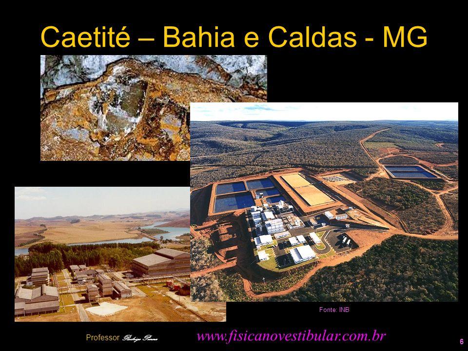 Caetité – Bahia e Caldas - MG 6 Fonte: INB Professor Rodrigo Penna www.fisicanovestibular.com.br