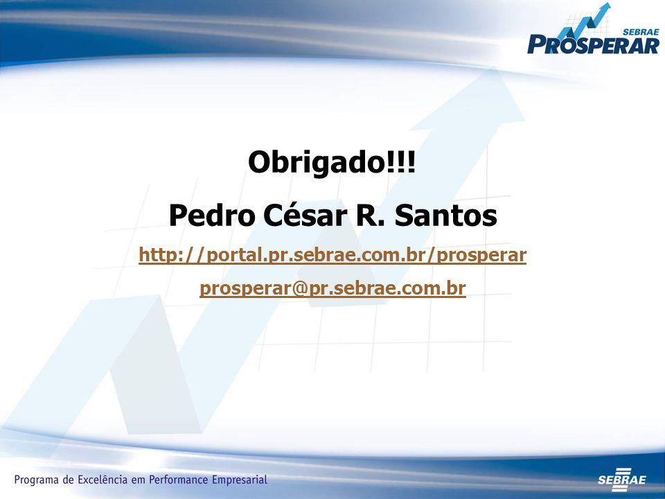 Obrigado!!. Pedro César R.