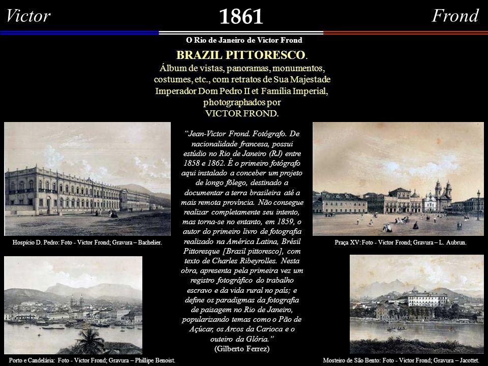 Louis Jacottet 1861 Panorama do Rio de Janeiro tomado da Ilha das Cobras.
