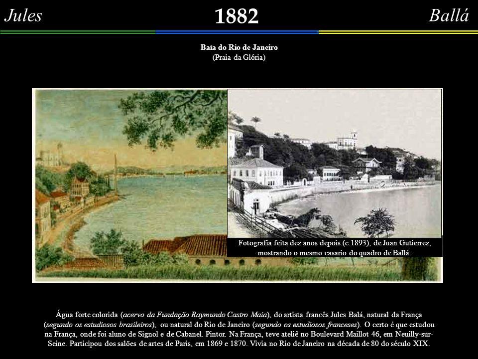 Y. V. 1881 Le Palais Impérial à Rio-Janeiro Perspectiva de parte da Praça XV, baseado na gravura de Y. V., sobre quem nada se sabe (Coleção Cau Barata