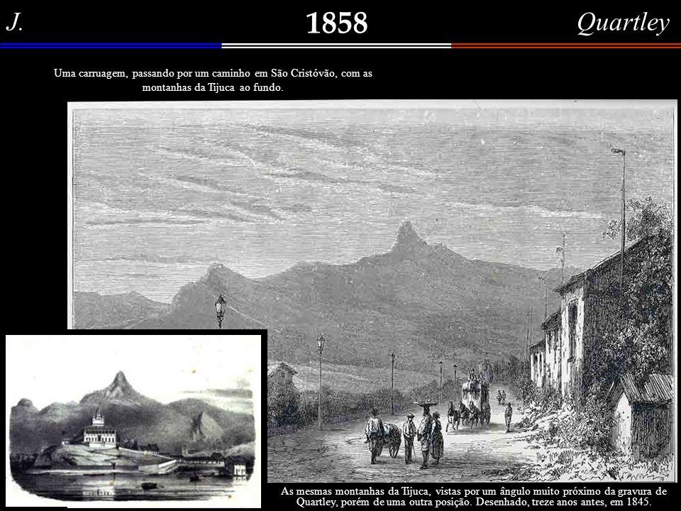 Alfred Sargent 1858 Casa de Campanha, próxima do Rio de Janeiro. Certamente, uma casa de campo, no alto de uma colina, à beira da baía de Guanabara. M