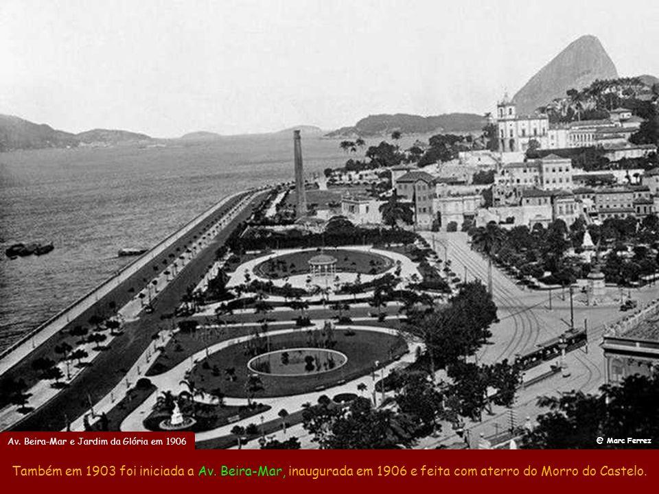 Praça XV em 1907 O embelezamento do Rio começou com a reforma da Praça XV em 1903. @ Augusto Malta