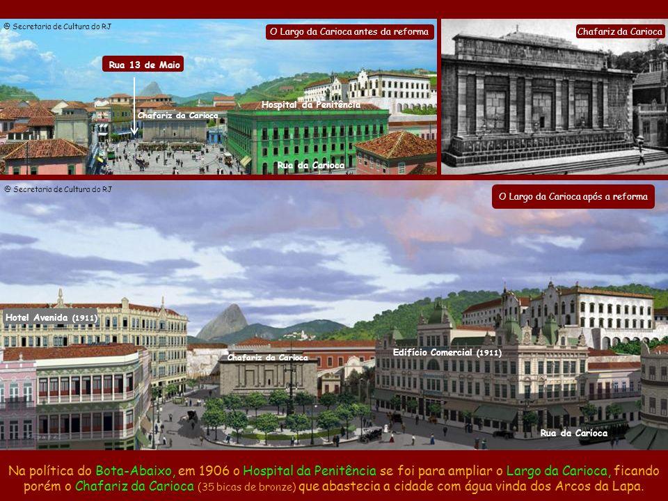 Alargamento e prolongamento da Rua UruguaianaAlargamento da Rua da Carioca Alargamento da Rua do Catete Abertura da Av. Maracanã Em 1905 foi aberta a