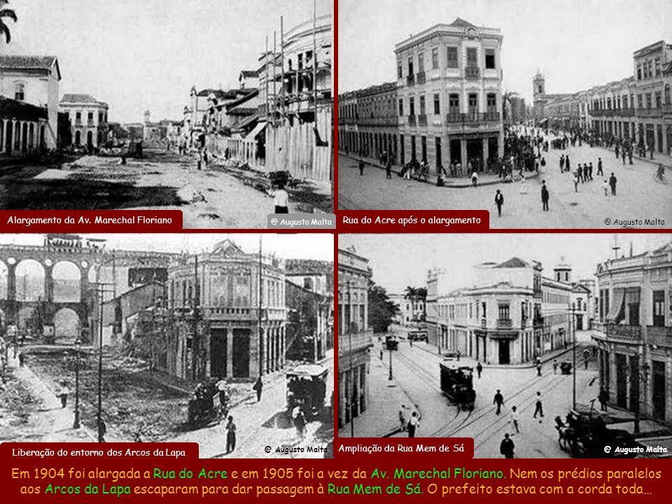 Na política do Bota-Abaixo, em 1906 o Hospital da Penitência se foi para ampliar o Largo da Carioca, ficando porém o Chafariz da Carioca (35 bicas de