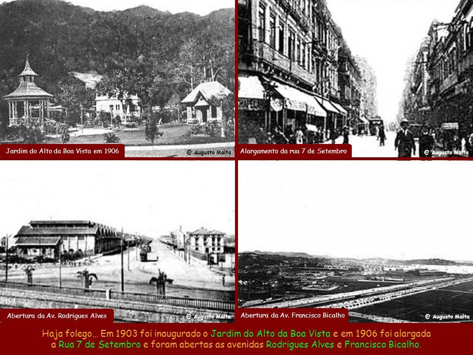 Estrada da Tijuca em 1907 As obras abrangiam toda a cidade e em 1905 o prefeito construiu a Estrada da Tijuca e a Vista Chinesa. @ Augusto Malta Vista
