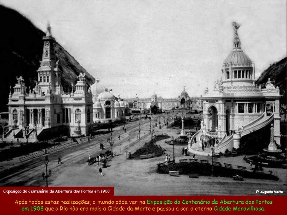 Canal do Mangue em 1908 Se tudo isto não bastasse, em 1906 Pereira Passos ainda conseguiu a proeza de transformar o Canal do Mangue em um cenário dign