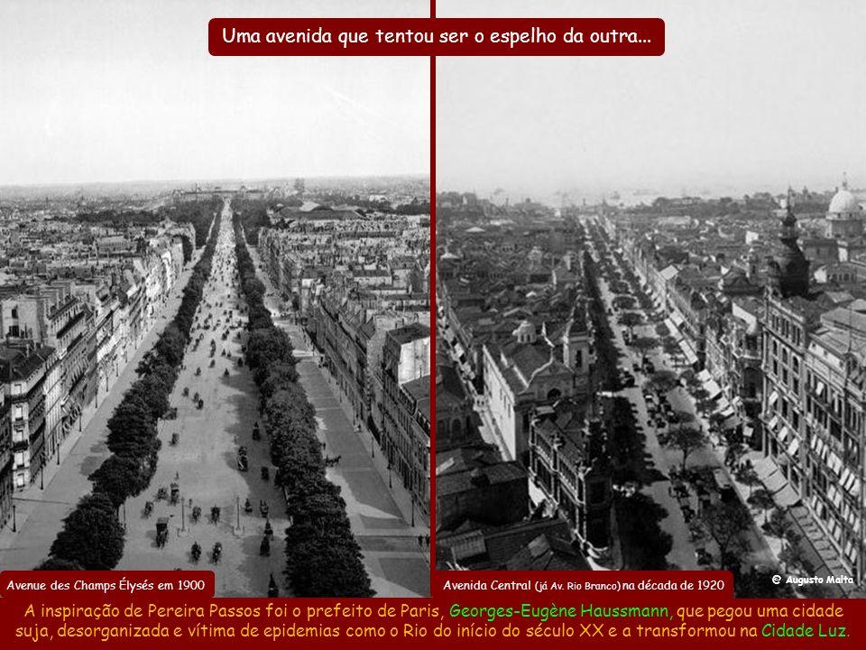 Ressaca no obelisco em 1906 Ou teria sido coincidência ele ter feito a Avenida Central como um boulevard começando num obelisco? Tal e qual a Avenue d