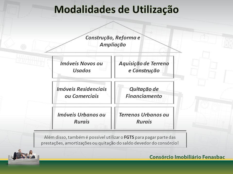 Imóveis Novos ou Usados Imóveis Residenciais ou Comerciais Imóveis Urbanos ou Rurais Aquisição de Terreno e Construção Quitação de Financiamento Terre