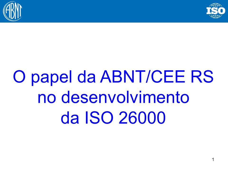 1 O papel da ABNT/CEE RS no desenvolvimento da ISO 26000