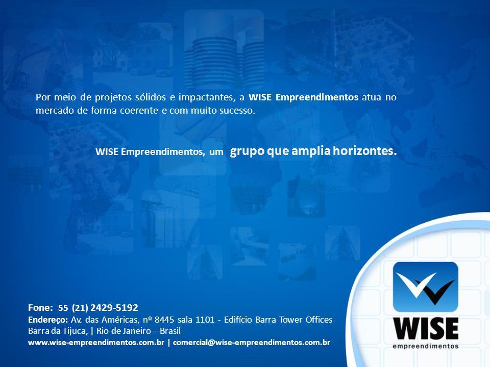 Por meio de projetos sólidos e impactantes, a WISE Empreendimentos atua no mercado de forma coerente e com muito sucesso. WISE Empreendimentos, um gru