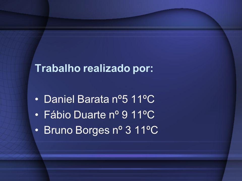 Trabalho realizado por: Daniel Barata nº5 11ºC Fábio Duarte nº 9 11ºC Bruno Borges nº 3 11ºC