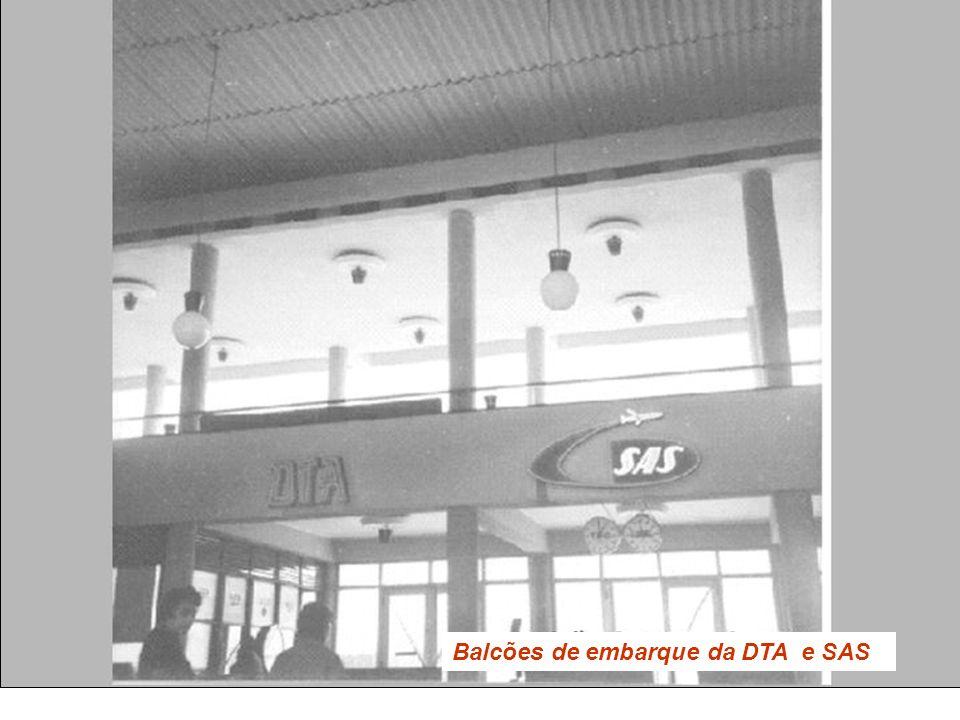 Balcões de embarque da DTA e SAS
