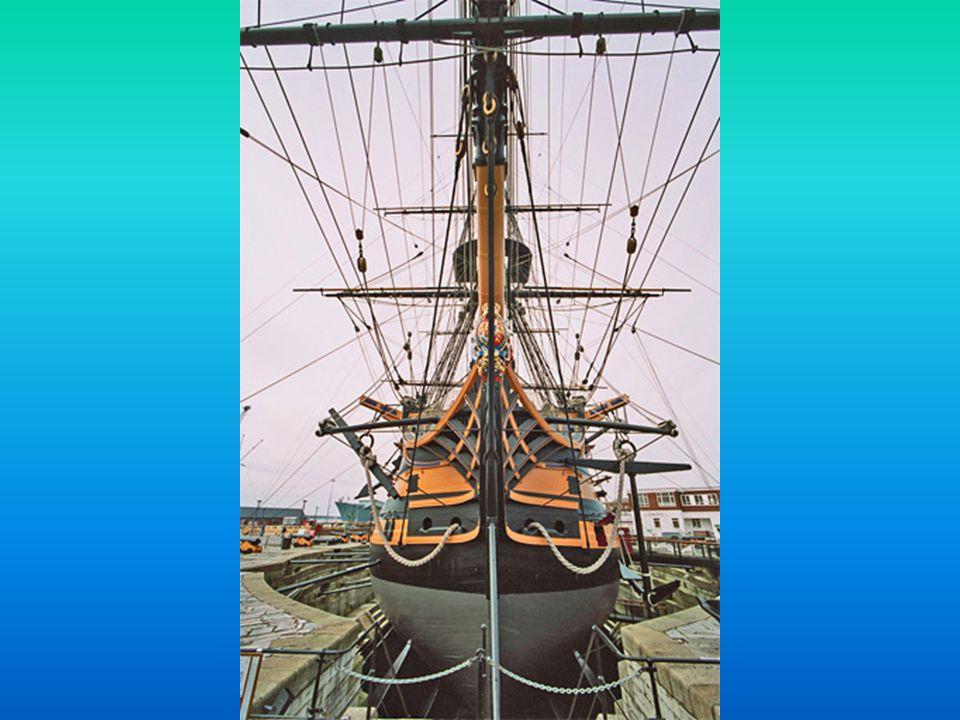 Em 1922, perante algumas dúvidas sobre o seu estado e eventual sobrevivência, foi decidida a sua mudança para o Portsmouth s Royal Naval Dockyard, onde deu entrada na Doca Seca nº 2 para trabalhos de manutenção e restauro, por forma a a recriar o estado do navio em 1805.1922Doca Seca