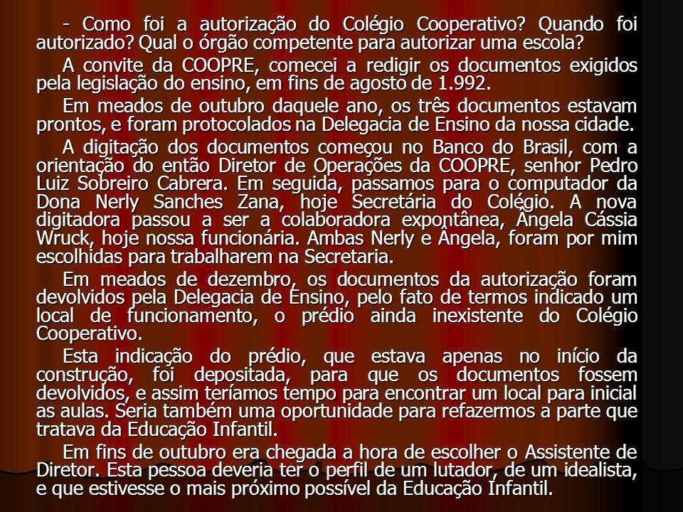 Então escolhi a Professora Maria de Lourdes Gomes Godoy, que é lutadora, idealista, e havia sido orientadora das séries iniciais do 1º grau.