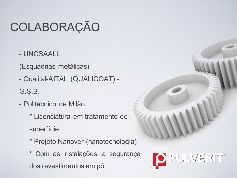 - UNCSAALL (Esquadrias metálicas) - Qualital-AITAL (QUALICOAT) - G.S.B.