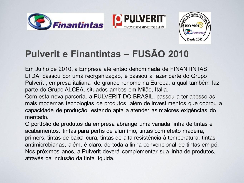 Em Julho de 2010, a Empresa até então denominada de FINANTINTAS LTDA, passou por uma reorganização, e passou a fazer parte do Grupo Pulverit, empresa italiana de grande renome na Europa, a qual também faz parte do Grupo ALCEA, situados ambos em Milão, Itália.