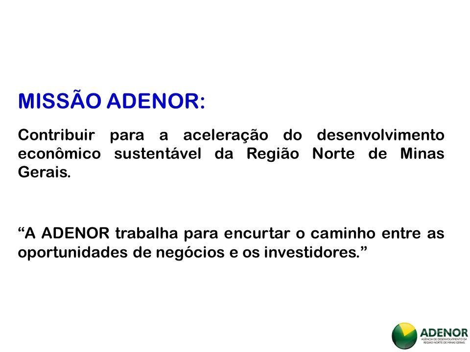 PONTO DE PARTIDA: Norte de Minas Oportunidades de Negócio Escuta e reconhecimento da realidade regional a partir das sete microrregiões de planejamento.