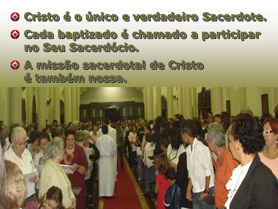 Cristo é oúnico e verdadeiro Sacerdote.Cristo é o único e verdadeiro Sacerdote.