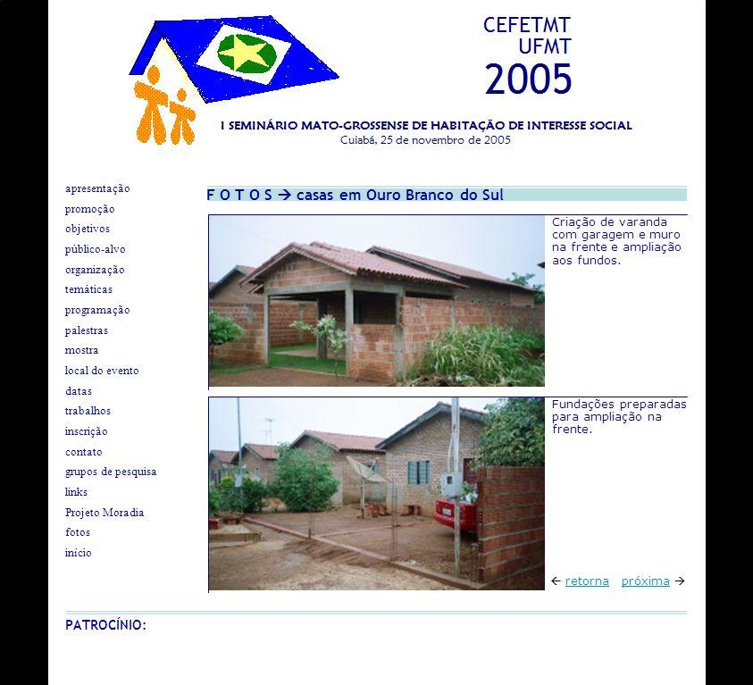 F O T O S casas em Ouro Branco do Sul próxima retorna Criação de varanda com garagem e muro na frente e ampliação aos fundos. Fundações preparadas par