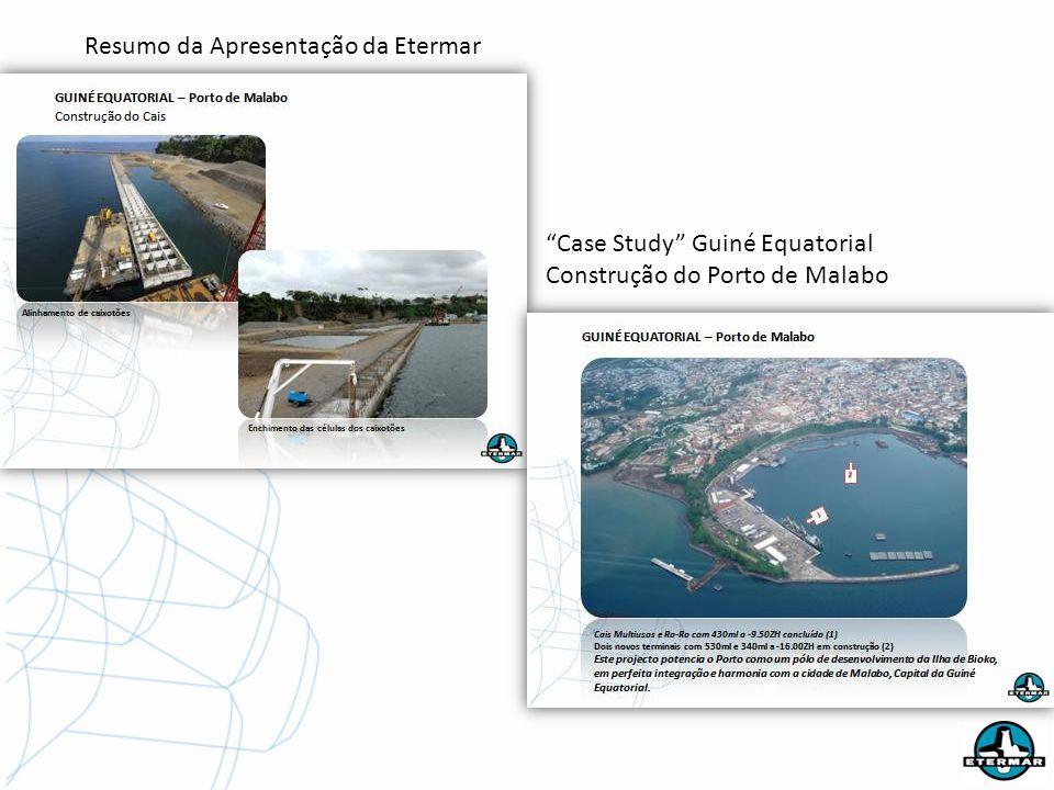 Resumo da Apresentação da Etermar Case Study Guiné Equatorial Construção do Porto de Malabo
