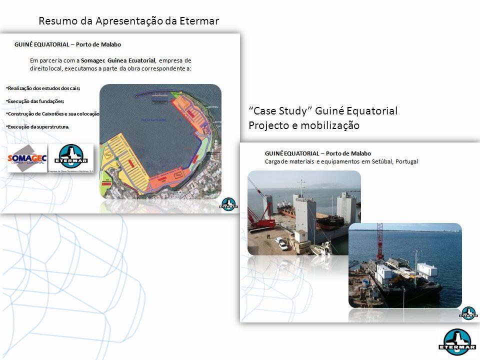 Resumo da Apresentação da Etermar Case Study Guiné Equatorial Projecto e mobilização