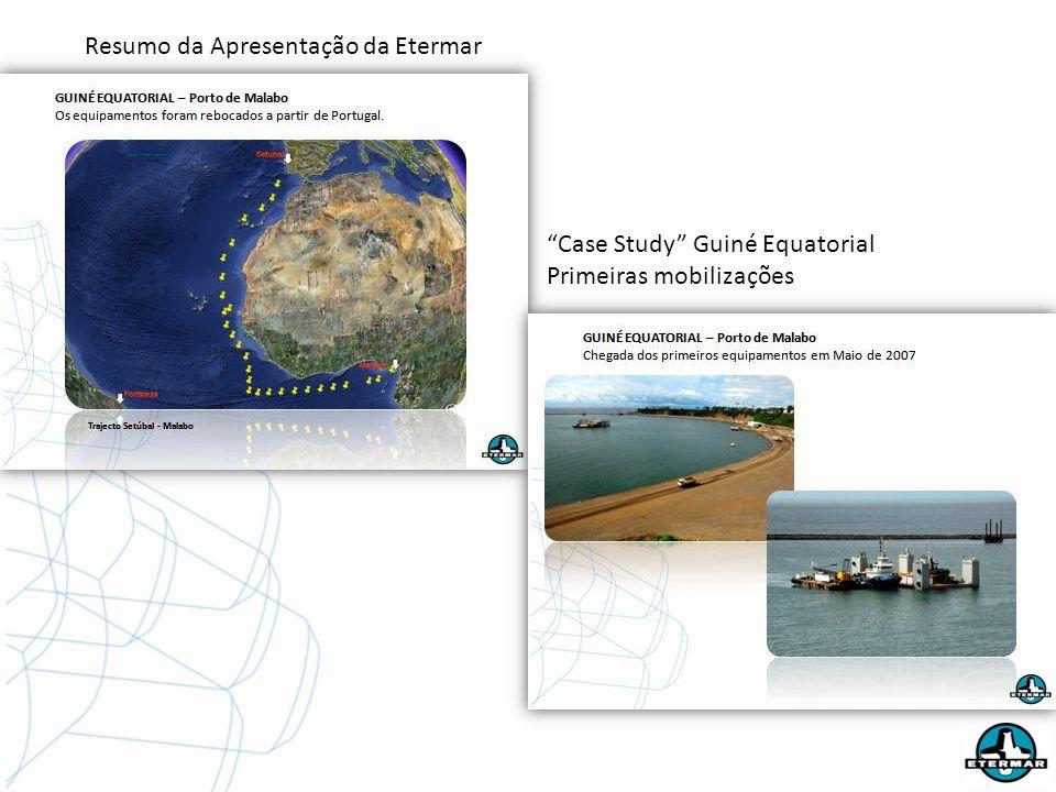 Resumo da Apresentação da Etermar Case Study Guiné Equatorial Primeiras mobilizações