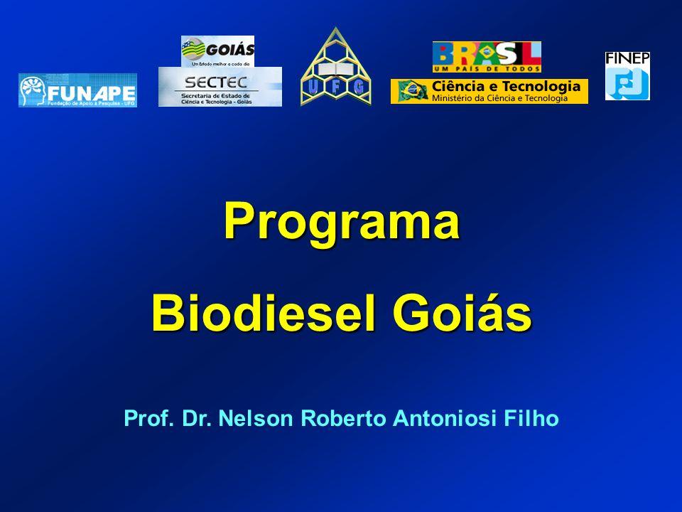 Programa Biodiesel Goiás Prof. Dr. Nelson Roberto Antoniosi Filho