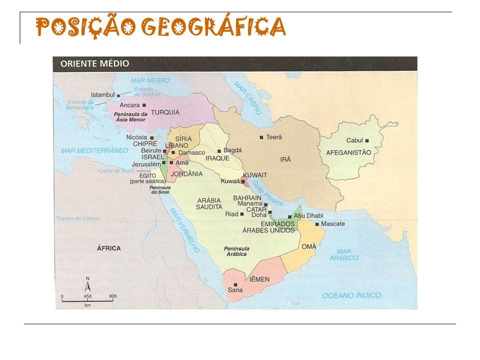 O Oriente Médio é cercado por diversos mares e existem dois golfos de intensa navegação comercial: o golfo Pérsico e o golfo de Omã.