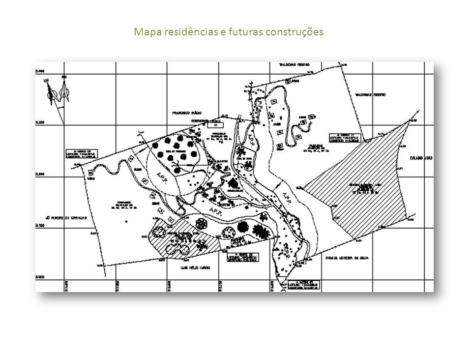 Mapa residências e futuras construções