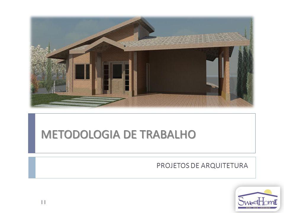 METODOLOGIA DE TRABALHO PROJETOS DE ARQUITETURA 11