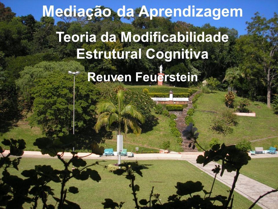 Mediação da Aprendizagem Teoria da Modificabilidade Estrutural Cognitiva Reuven Feuerstein