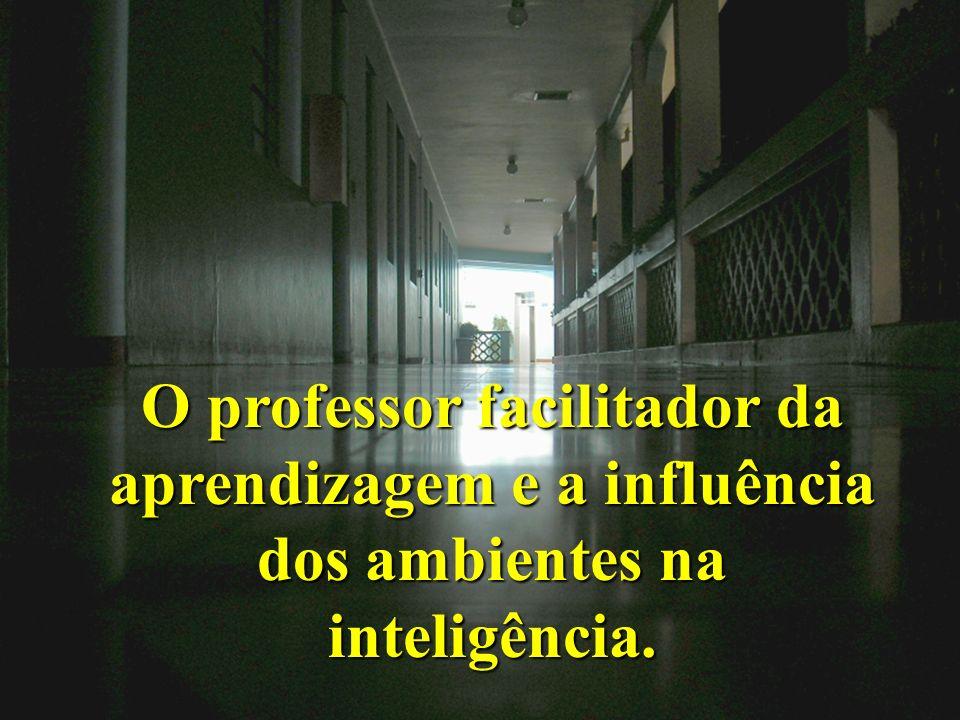 O professor facilitador da aprendizagem e a influência dos ambientes na inteligência.