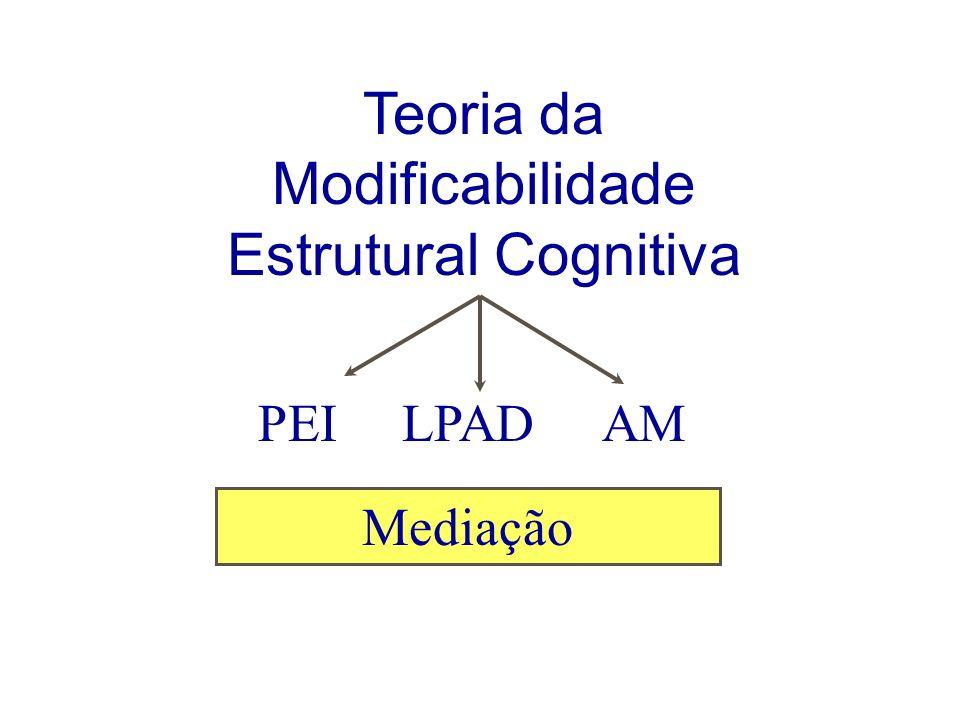 Teoria da Modificabilidade Estrutural Cognitiva Mediação PEILPADAM
