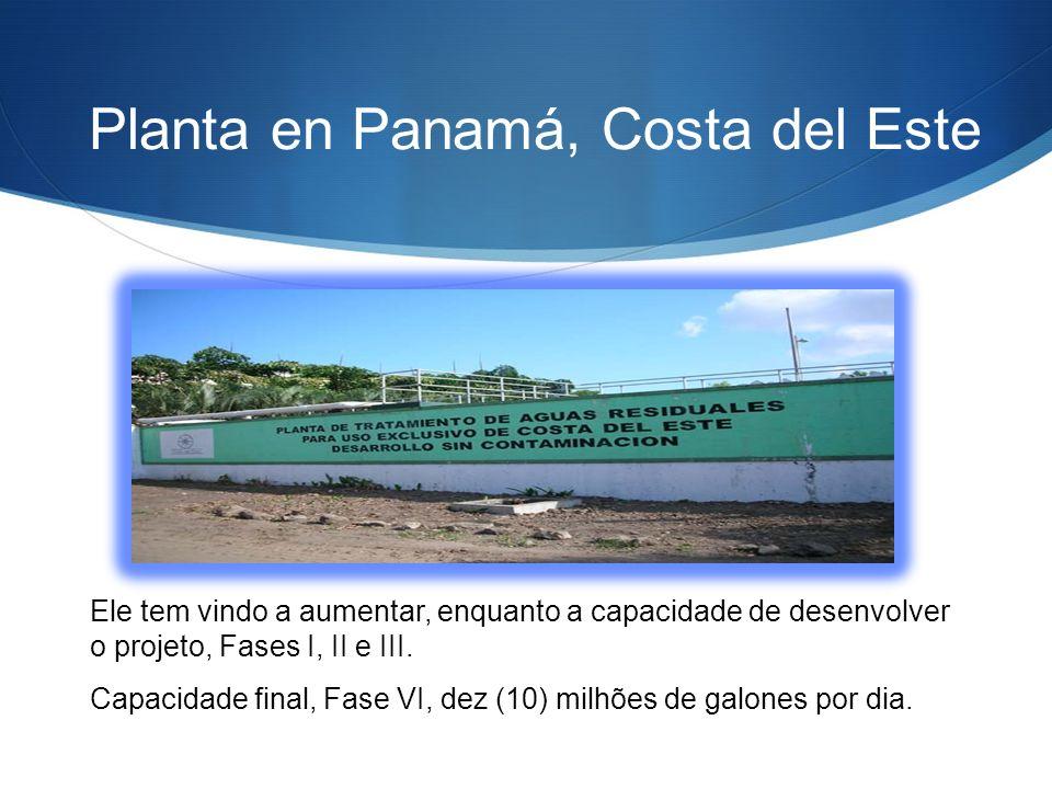 Planta en Panamá, Costa del Este Ele tem vindo a aumentar, enquanto a capacidade de desenvolver o projeto, Fases I, II e III.