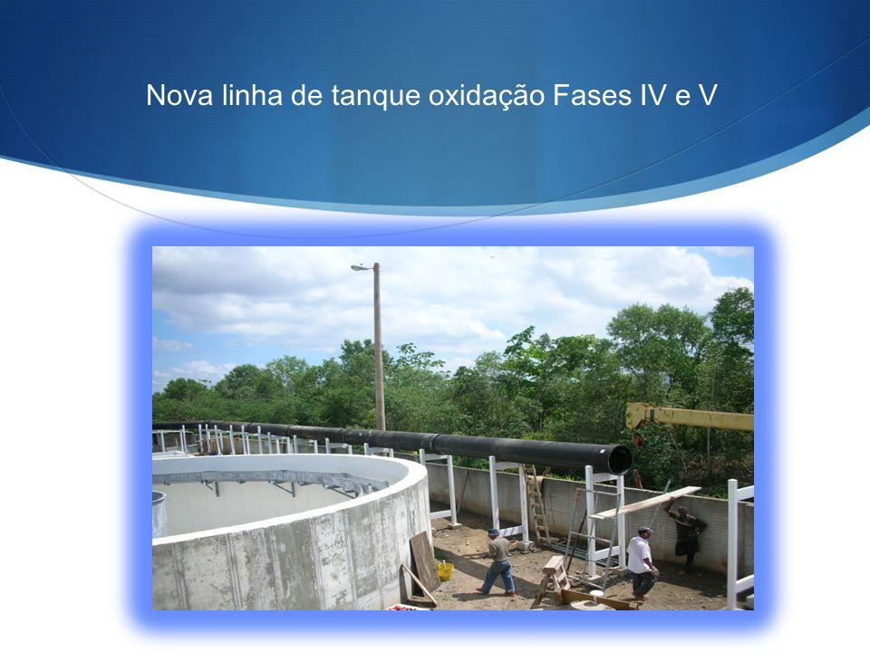 Nova linha de tanque oxidação Fases IV e V