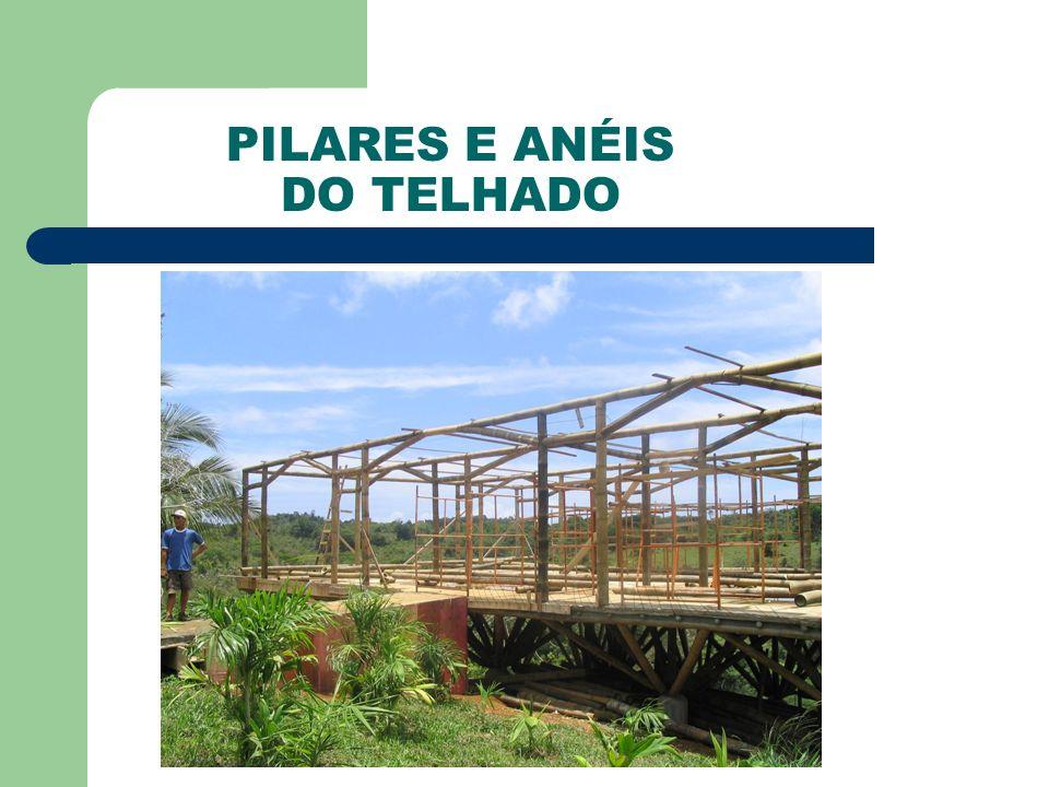 PILARES E ANÉIS DO TELHADO