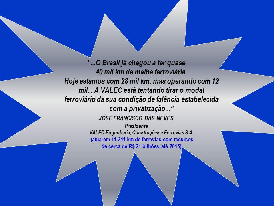 SEMINÁRIO PERMANENTE DE DESENVOLVIMENTO NOVOS RUMOS DA FERROVIA NO BRASIL MODERNIZAÇÃO E AMPLIAÇÃO 25 DE FEVEREIRO DE 2011 JAIME FERREIRA BARBOZA Supe