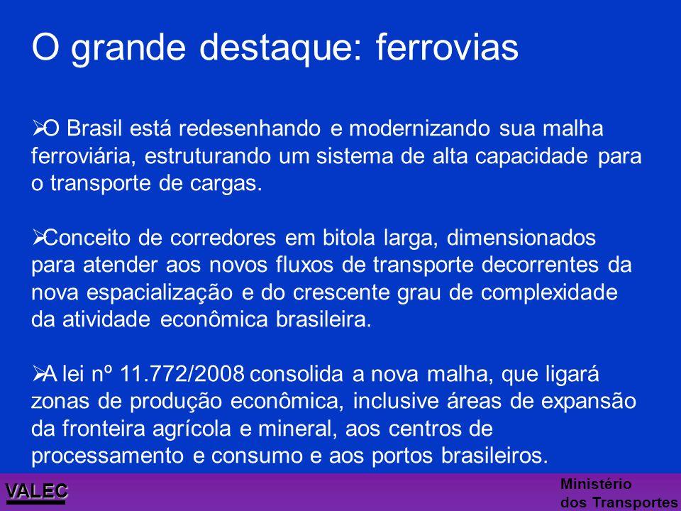 VALEC Ministério dos Transportes Voltando a investir Ao longo dos anos 80, o Brasil sofreu o reflexo de diversas crises externas que acarretaram um lo