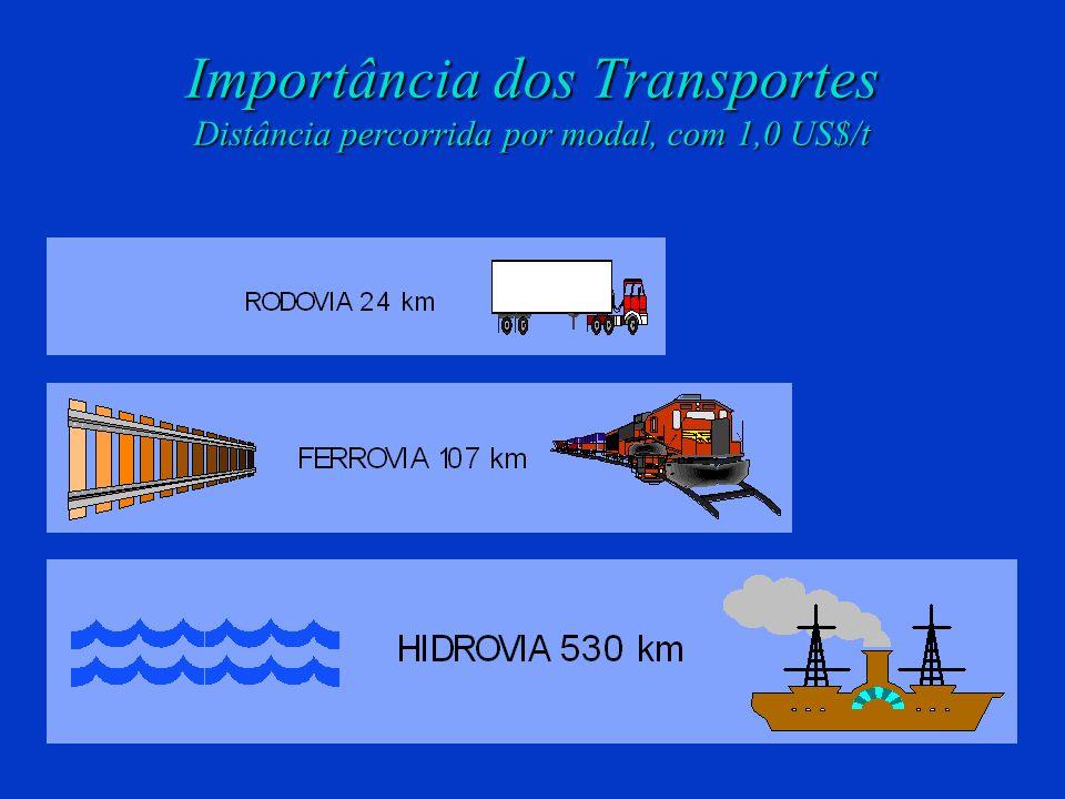 VALEC Ministério dos Transportes Importância dos Transportes Comparativo de custo entre alguns países 2,2 x Canadá 2,8 x URSS 1,6 x USA 2 x China O cu