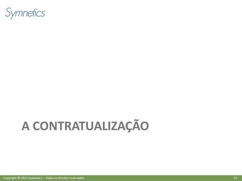 25 Copyright © 2011 Symnetics – Todos os direitos reservados A CONTRATUALIZAÇÃO