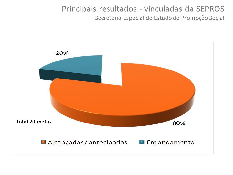 52 Copyright © 2010 Symnetics – Todos os direitos reservados Principais resultados - vinculadas da SEPROS Secretaria Especial de Estado de Promoção So