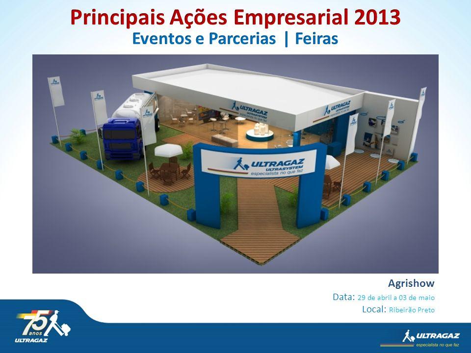 Agrishow Data: 29 de abril a 03 de maio Local: Ribeirão Preto