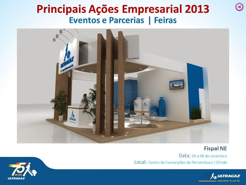 Fispal NE Data: 05 a 08 de novembro Local: Centro de Convenções de Pernambuco / Olinda