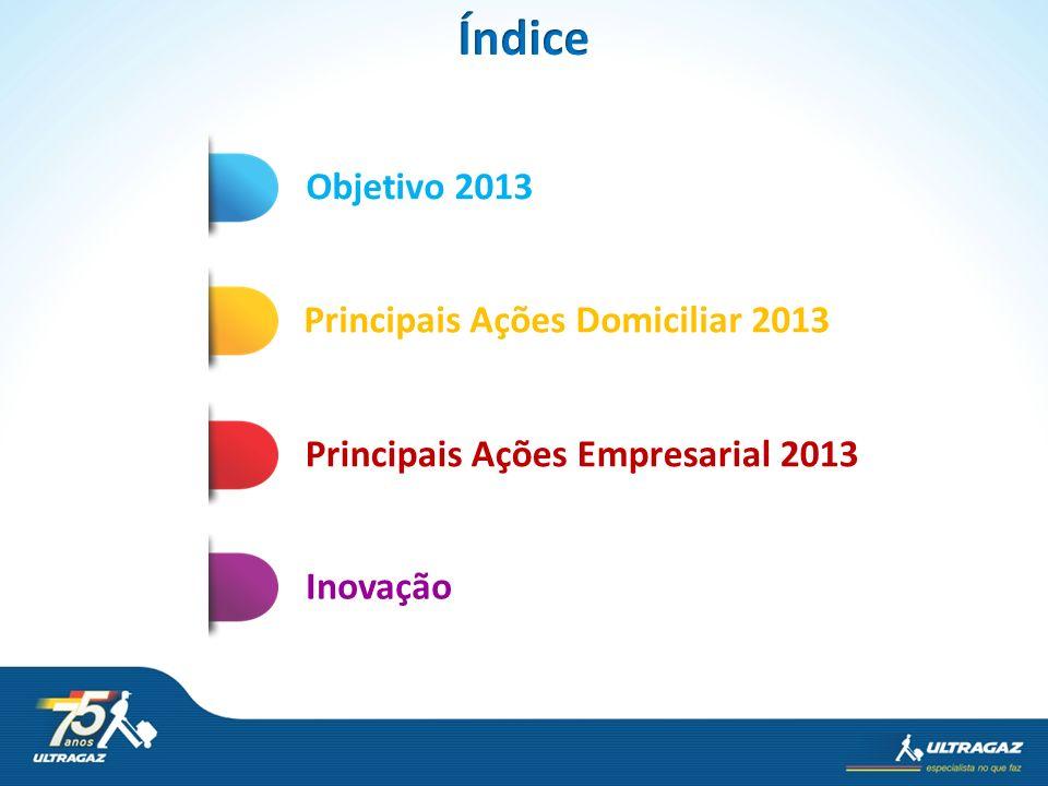 Objetivo 2013 Principais Ações Domiciliar 2013InovaçãoPrincipais Ações Empresarial 2013